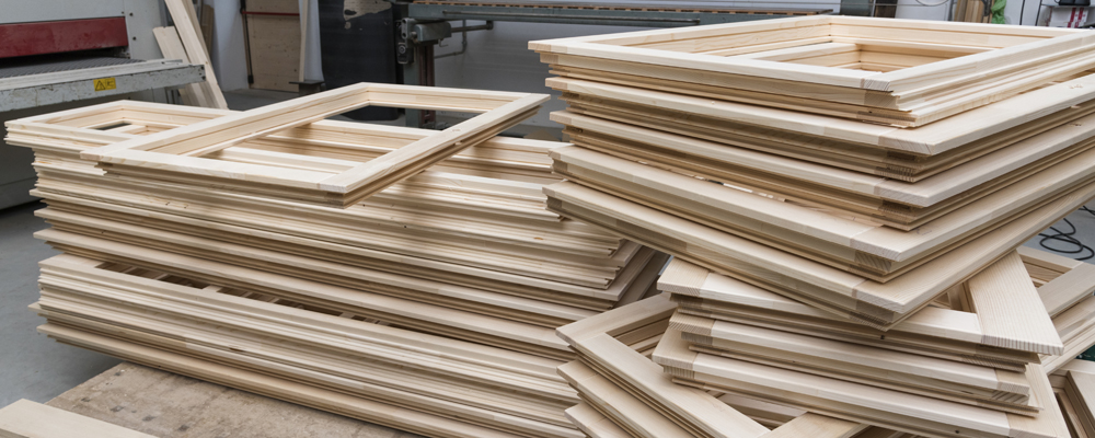windows frame production in joinery