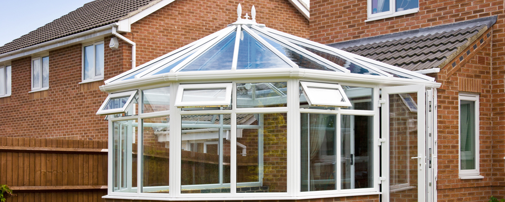 Conservatory with glass roof
