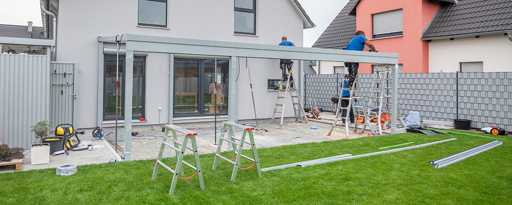 Patio roof construction