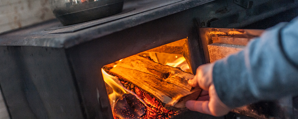Cooking in wood burning stove