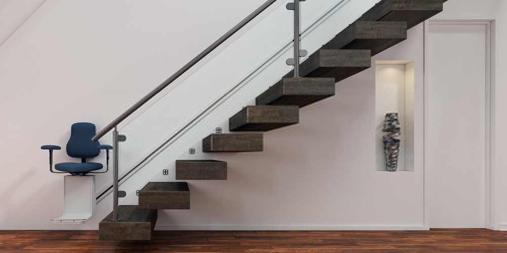 Stairlift on staircase