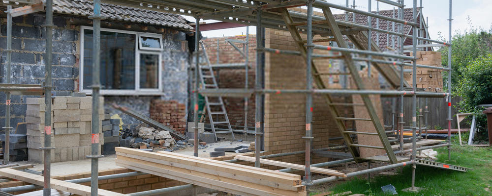 House extension construction