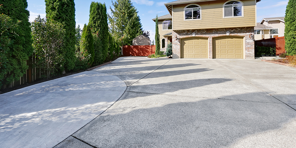 House with concrete driveway